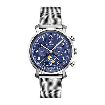 Carl of Zeyten men's watch wristwatch quartz Urach CVZ0015BLMB