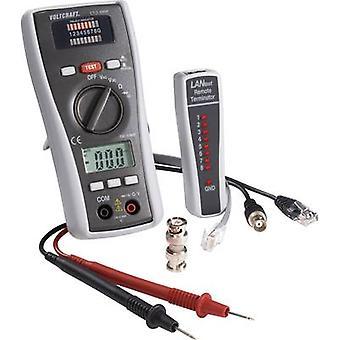Cablegrafíe el probador VOLTCRAFT CT-3 DMM adecuado para BNC, RJ11 y RJ45