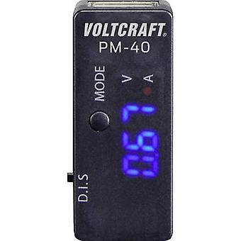 USB adapter Digital VOLTCRAFT PM-40 CAT I Display (counts): 999