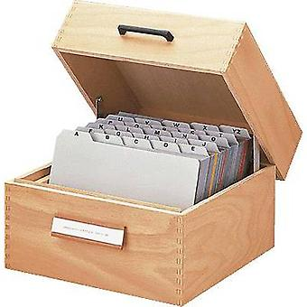 HAN Card index box 506 Natural wood 506 No. of cards (max.): 900 cards A6 portrait incl. metal prop, retractable lid with handle