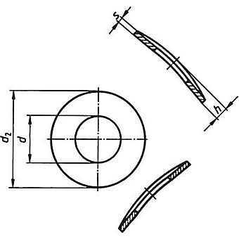 座金の内径を分割: 3.2 mm M3 DIN 137
