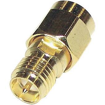 Adaptateur de polarité inversée SMA polarité inversée SMA plug - SMA polarité inversée prise électronique BKL 0419100 1 PC (s)