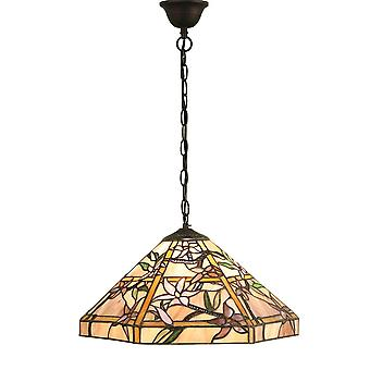 Wnętrza 1900 Clematis pojedynczego światła Tiffany Glass sufitowy Pendanta