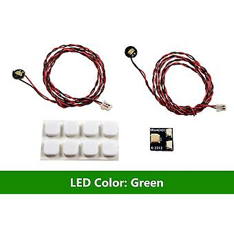 Brickstuff verde Pico LED luz tablero 2-Pack-LEAF01-PGR-2PK