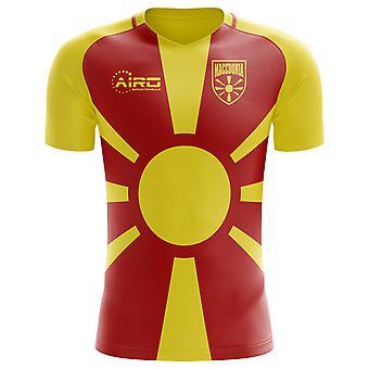 2018-2019 Mazedonien Wohnkonzept Fußballtrikot