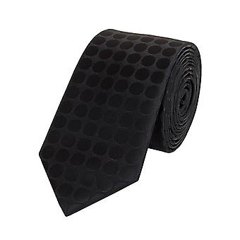 Krawat krawat krawaty Binder 6cm, czarny cętkowany uni Fabio Farini