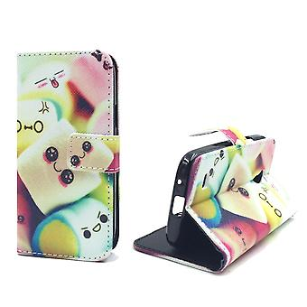 Handyhülle Tasche für Handy Samsung Galaxy S4 Mini Schriftzug Marshmallows