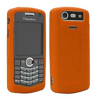 OEM BlackBerry 8120, 8130, 8110 Light Orange Rubber Skin Case