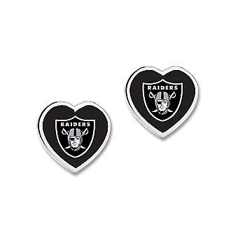 Wincraft ladies 3D heart Stud Earrings - NFL Oakland Raiders