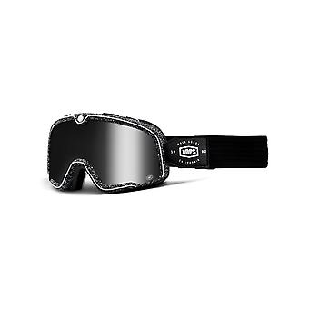 100 Percent Silver Barstow Kids MX Goggle