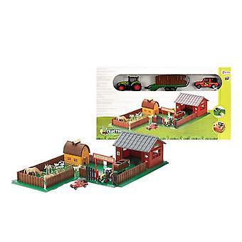 Boerderij met dieren en tractor
