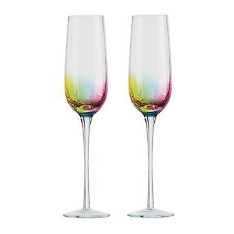 Artland Neon Set of 2 Champagne Flutes