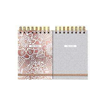 Rachel Ellen Rose Gold Design Duo Notebooks