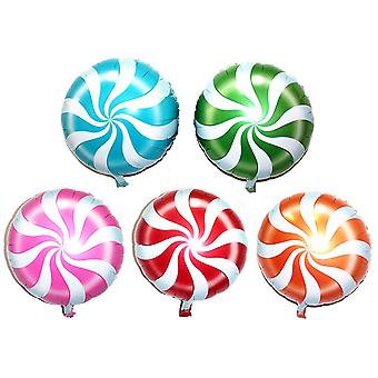 6PC Lollypop Swirl Foil Balloon Pack Multicolour Birthday Parties - By TRIXES