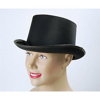 Top Hat. Black, Satin Look.