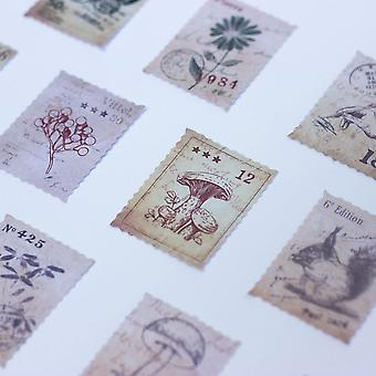Flora and Fauna Style Postage Stickers Stamps Craft Scrapbooking 46 pieces