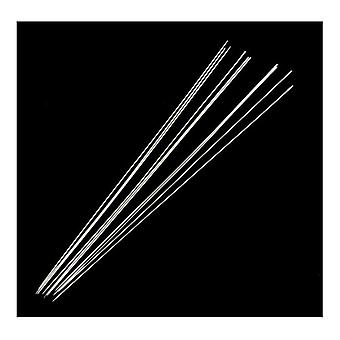 Packet 20 x Silver Steel Beading Needles 0.4 x 79mm Y05435