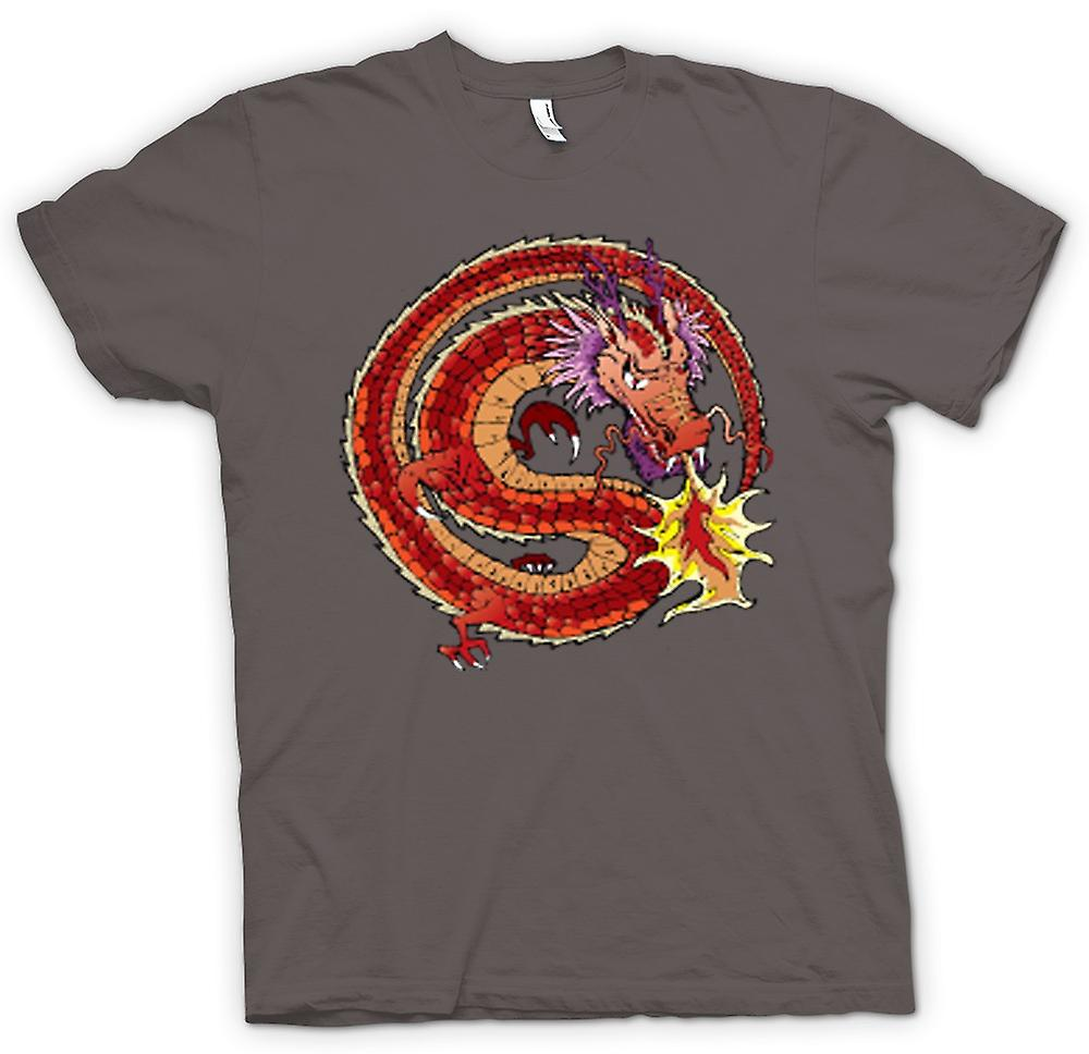 Femmes T-shirt - Dragon chinois conception traditionnelle