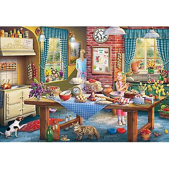 Gibsons Sneaking A Slice Jigsaw Puzzle (500 pieces)