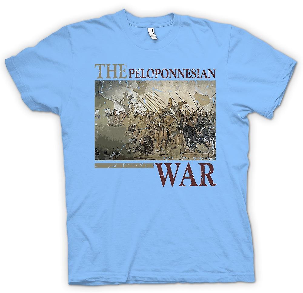 Mens t-shirt - la guerra del Peloponneso - Sparta ispirato