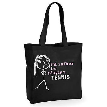 Damer jeg ville hellere spille Tennis sort bomuld indkøbspose