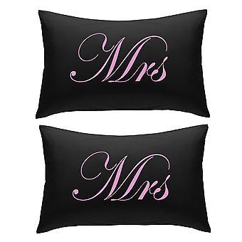 أسود مع السيدة الوردي ووسادات السيدة