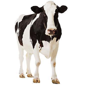 Vaca - recorte de cartón de tamaño natural / pie
