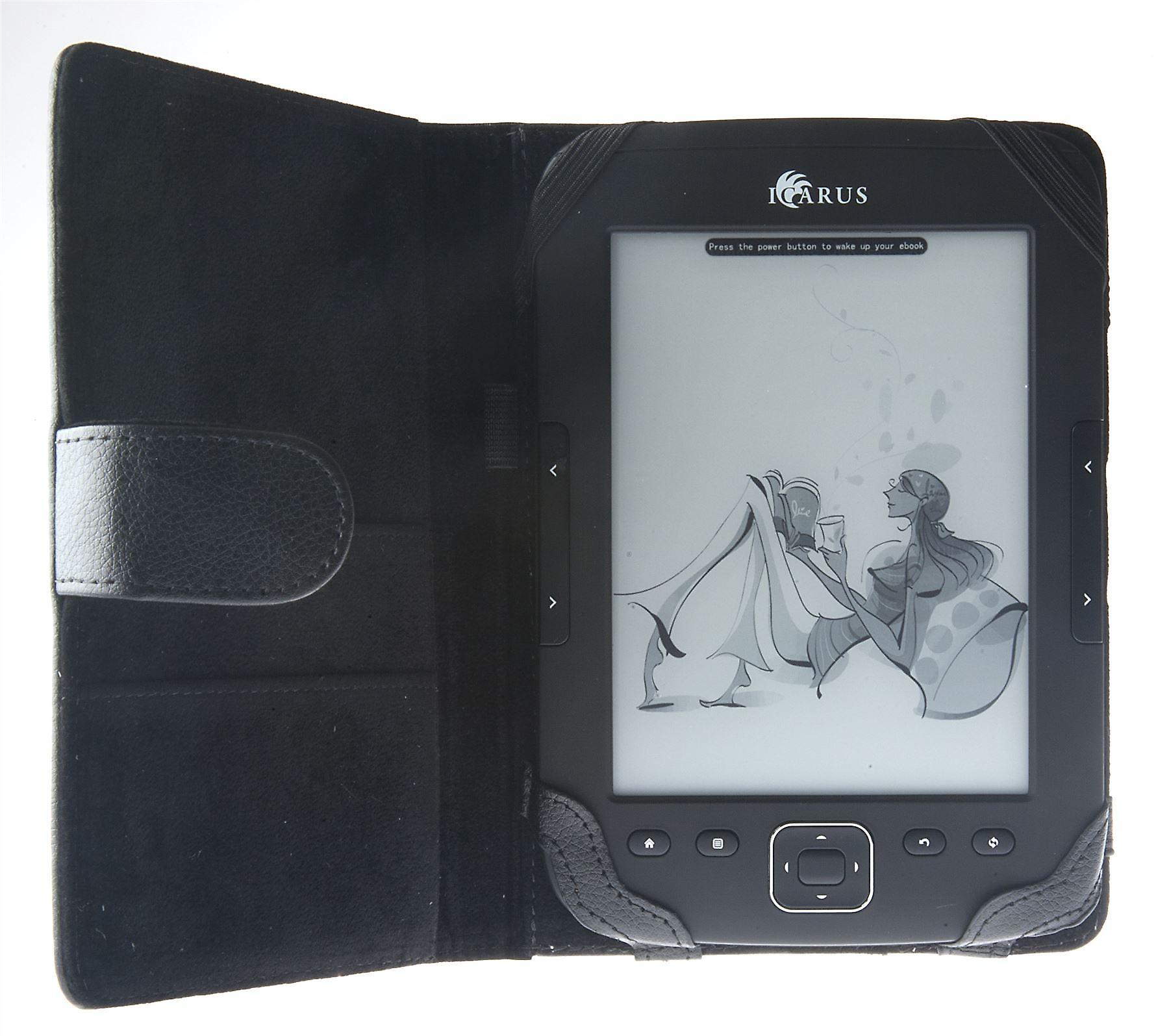 ICARUS cover black leather for Illumina HD/Pocket/Sense G2