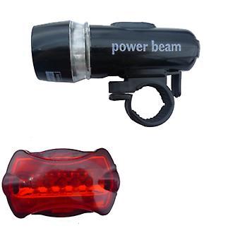 Waterdichte LED fiets verlichting voor- en achterzijde