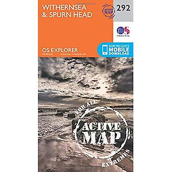 OS Explorer Map Active (292) Withernsea and Spurn Head (OS Explorer Active Map)