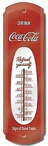 Coca Cola Coke Refresh Yourself steel thermometer (de red)