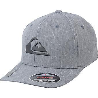 Quiksilver Mens Amped Up Amphibian Flexfit Hat - Heather Black