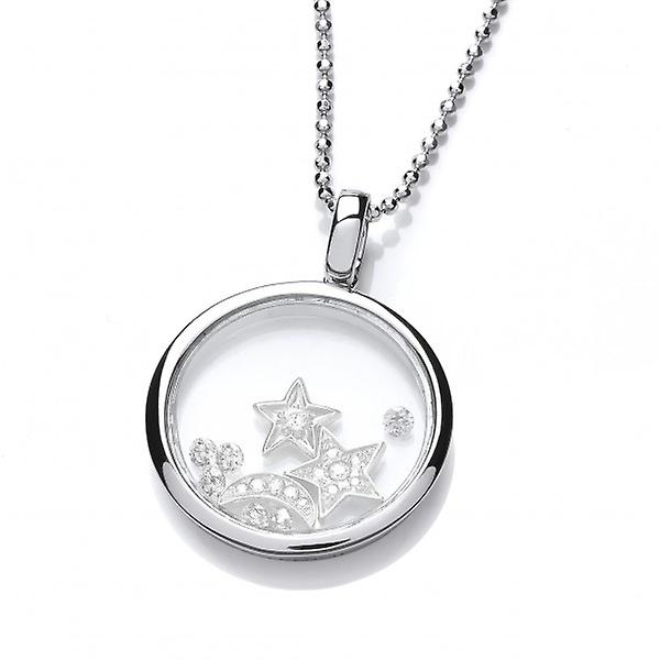 Cavendish French Celestial argent and CZ Sky and Night Pendant without Chain