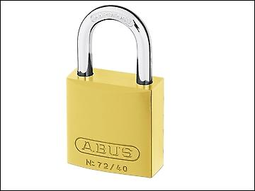 ABUS 72/40 40mm Aluminium Padlock Yellow Keyed TT60123