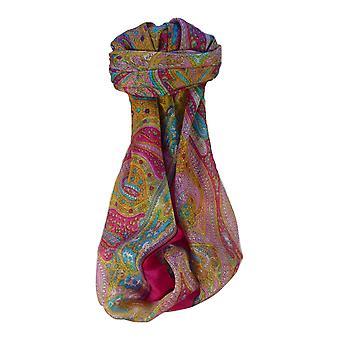 パシュミナ ・ シルクで桑絹の伝統的な正方形スカーフ Vayvia ブラック