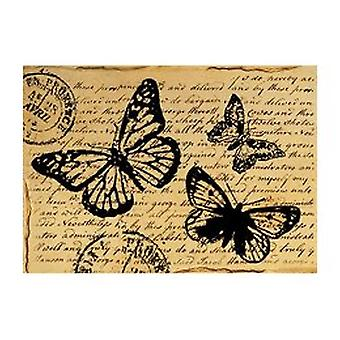 Stamperia Rice Paper A4 Butterfly with Words (DFSA4120)