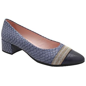Hispanitas Texture Low Heel Contrasting Court Shoe