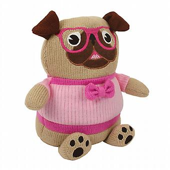 Aroma Home Knitted Cosy Friend Heatable Hottie: Pug