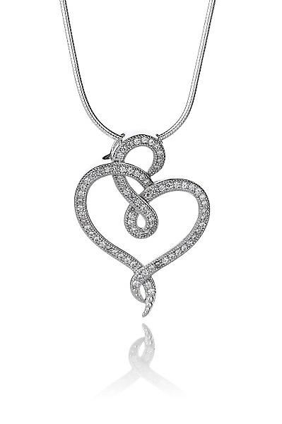 Cavendish French Never-ending Love Silver Pendant without Chain