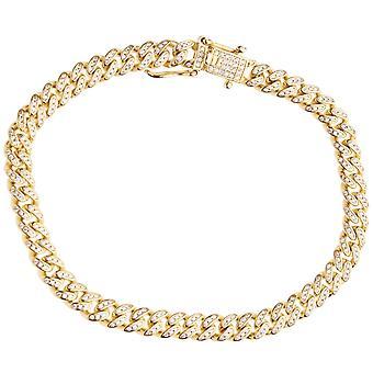 Premium Bling 925 sterling silver bracelet - MIAMI CURB 6.5mm