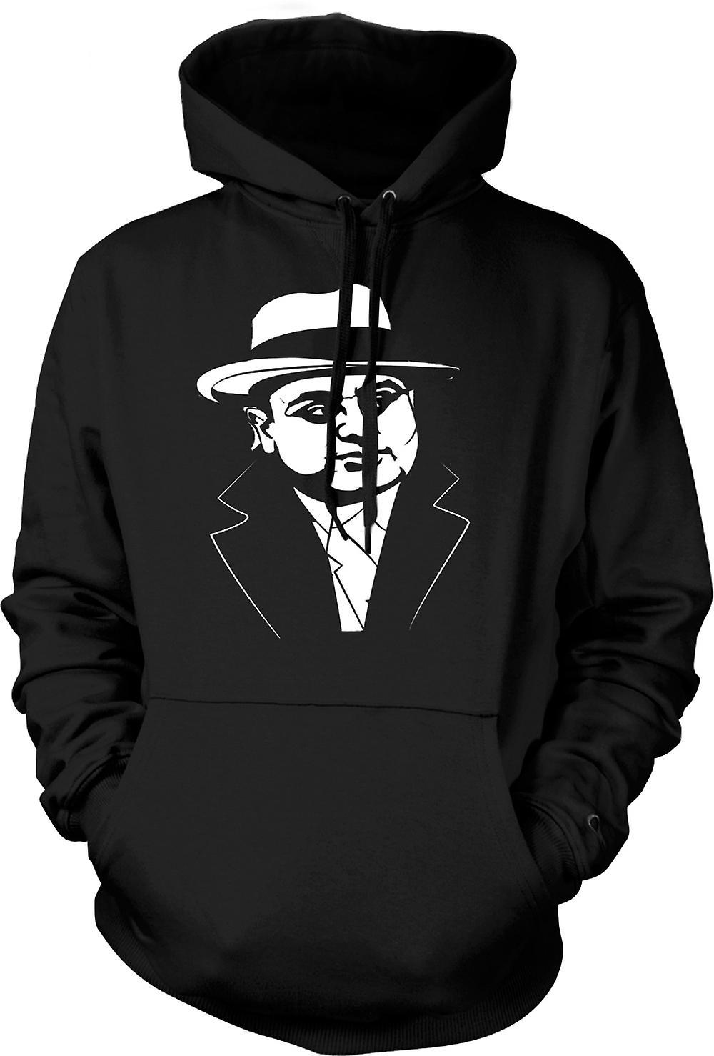 Mens hettegenser - Al Capone - Gangster