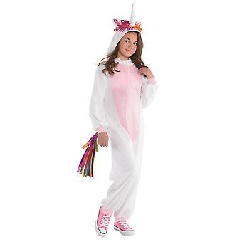 Girls Unicorn Zipster Costume