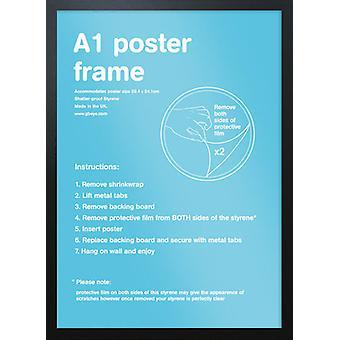 Eton schwarz Frame A1 Poster / Frame drucken
