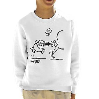 Grimmy Chasing The Nurse Kid's Sweatshirt
