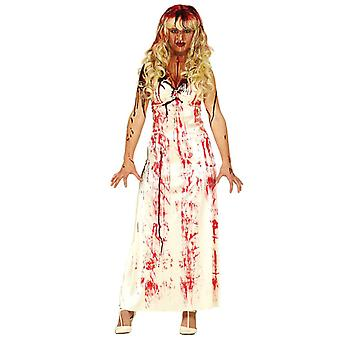 Femmes Halloween Sang taché Prom Queen Fancy Dress Costume