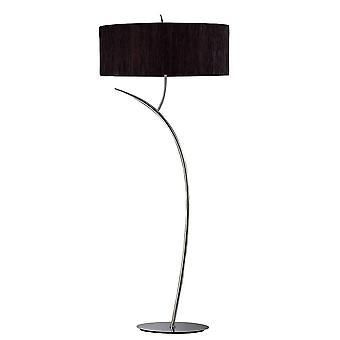 Lampe de plancher de Mantra Eve 2 Lumière E27, Antracite avec l'ombre ovale noire