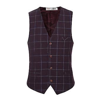 Allthemen män ' s Suit väst V-Neck Slim Fit Vest 5 färger tillgängliga