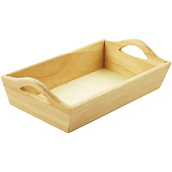 Paintable Wooden Tray with Handles 8 1 8