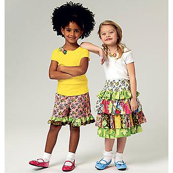 Children's Top, Skirt And Shorts  Cl 6  7  8 Pattern B5777  Cl0