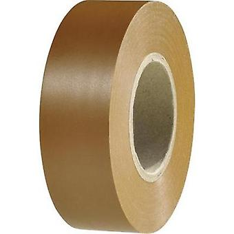 Electrical tape HellermannTyton HelaTape Flex 1000+ Brown (L x W) 20 m x 19 mm Content: 1 Rolls
